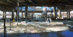 Climate Wars, Refugee Camp (+process), Adrien Girod on ArtStation at https://www.artstation.com/artwork/3488m