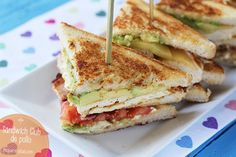 SANDWICH CLUB (2) Lunch Recipes, Mexican Food Recipes, Cooking Recipes, Healthy Recipes, Healthy Food, Gourmet Sandwiches, Wrap Sandwiches, Tapas, Fast Dinners