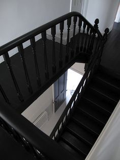 black painted staircase - Google Search