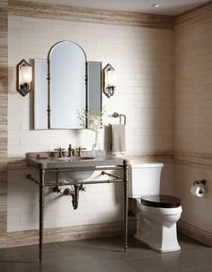 Contemary Luxury Powder Room Wc Design Ideas, Pictures, Remodel and Decor
