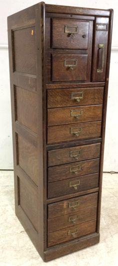 Antique Macey Tiger Oak 12-drawer File Cabinet SOLD $500