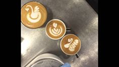 Latte Art - espresso macchiato, flat white - how to steam milk How To Steam Milk, White Flats, Latte Art, Espresso, Art Pieces, Projects To Try, Swan, Watch, Youtube