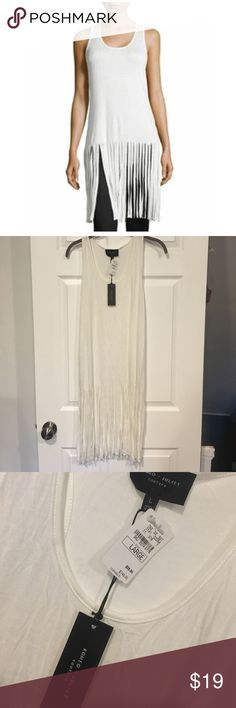 🆕NWT Romeo + Juliet Couture Long Fringe-Tank Romeo & Juliet Couture Women's Long Fringe-Trim Tank, Ivory featuring scoop neck, scoop neckline, sleeveless, racerback. The chic clothing will polish off a variety of looks with stunning style. Take on the day in this pretty style. The clothing is listed in tank, tee. NEIMAN MARCUS. NEW WITH TAGS Romeo & Juliet Couture Tops Tank Tops
