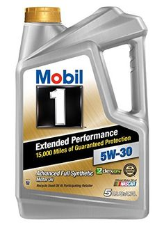 Mobil 1 1207663PK Extended Performance 5W30 Motor Oil 5 Quart Pack of 3 >>> Click on the image for additional details.