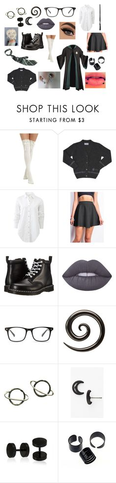 """Slytherin"" by hailstone360 ❤ liked on Polyvore featuring Hot Topic, CO, rag & bone, Dr. Martens, Ultimate, Lime Crime, Stefanie Sheehan Jewelry, Marc by Marc Jacobs and Bling Jewelry"