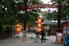 Christiania, a self-declared independent micro-nation located within Copenhagen, Denmark. It is most widely known as a place to buy drugs, but it is also a community of artists and a very special micro-economy.