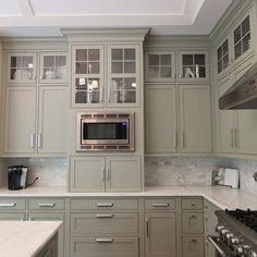 Gray Green Cabinets, Transitional, kitchen, Hollingsworth Interiors