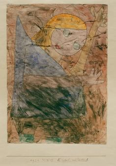 Paul Klee 'Engel, Noch Tastend' (Angel Still Groping) or (Angel Still Feeling) or (Still Feeling Angels) my own attempts at translation  1939.