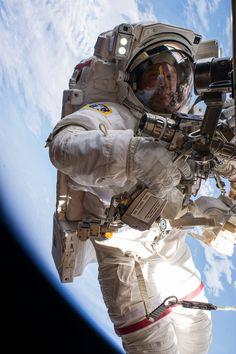 NASA astronaut Tim Kopra on Spacewalk: View 4
