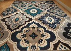 New Modern Blue Rug 8x11 Rug Blue Carpet 5x8 Rugs 8x10 Rugs Indoor Carpet Rugs  #ContemporaryRug