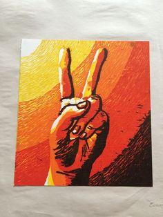 Peace Sign 2/5 - Evanne Deatherage - Paintings & Prints Politics & Patriotism Flags & Symbols - ArtPal Painting, Art, Art Background, Painting Art, Paintings, Kunst, Drawings, Art Education