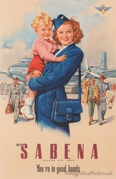 Sabena | Was the national airline of Belgium from 1923 to 2001 #vintage #Belgium