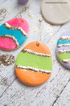 Easter Tree Salt Dough Ornaments