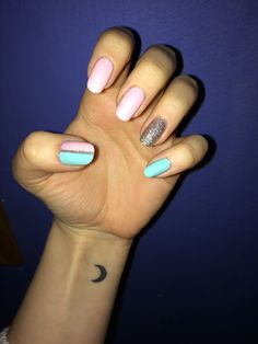 Pink, mint and silver