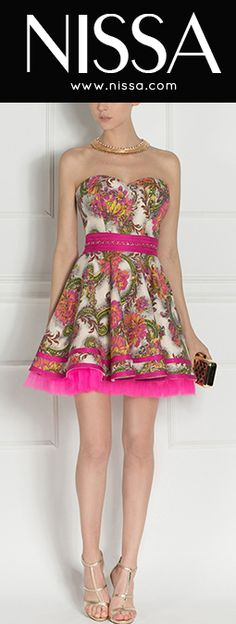 www.nissa.com  #nissa #fashion #dress #fashionista #style #look #pink #mini #print #floral Strapless Dress, Mini, Collection, Dresses, Style, Fashion, Strapless Gown, Vestidos, Swag