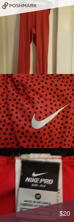 Running pants Super cute work out pants. Red with black polka dots. This is a Re-posh, as they did not fit my daughter. Nike Pants Track Pants & Joggers