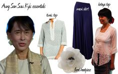 Style inspirations from iconic woman fighter Aung San Suu Kyi    http://www.venusbuzz.com/archives/25049/fashion-friday-dressing-up-la-asian-icons/