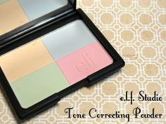The Happy Sloths: e.l.f. Cosmetics Studio Tone Correcting Powder: Review and Swatches