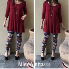 Burgundy tunic dress ONE HOUR SALE Light rayon jersey rayon/spandex blend swing tunic dress PLEASE USE Poshmark new option you can purchase and it will give you the option to pick the size you want ( all sizes are available) BUNDLE And SAVE 10% ( sizes updated daily ) Dresses