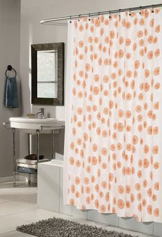 this tangerine bathroom decor is fabulous youu0027ll love the bright colors and unique designs found on some of these tangerine shower curtains and