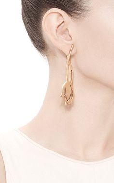 Tulip Earrings by Oscar de la Renta - Moda Operandi