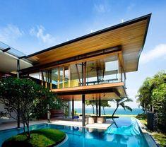 house overlooking water