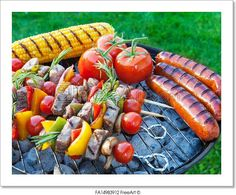 """""""Summertime backyard barbecue cookout"""" - Art Print from FreeArt.com"""