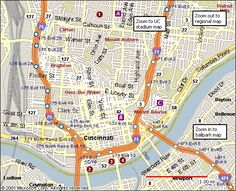 Map Of Downtown Cincinnati Free Printable Maps Cincinnati Map