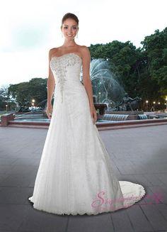 A Line Wedding Dresses 0040