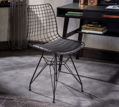 Shop for Cilek Dark Metal Black Chair. Get free delivery On EVERYTHING* Overstock - Your Online Furniture Outlet Store! Coastal Furniture, Shabby Chic Furniture, Modern Furniture, Conference Chairs, Business Furniture, Chair Types, Bars For Home, Side Chairs, Modern Decor