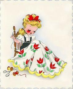 seamstress > Oh my, doesn't she look like Little Miss Sunbeam?