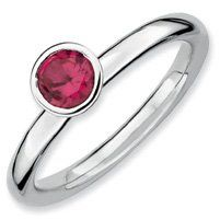 0.59ct Stackable 5mm Round Ruby Ring Band. Sizes 5-10 Available Jewelry Pot. $22.99. 30 Day Money Back Guarantee. 100% Satisfaction Guarantee. Questions? Call 866-923-4446. Fabulous Promotions and Discounts!. All Genuine Diamonds, Gemstones, Materials, and Precious Metals. Your item will be shipped the same or next weekday!. Save 64%!