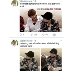 don't ship taegi but they cute or whateva