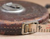 Keuffel & Esser Co. NY Measuring Tape in Leather Casing