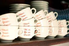 ZEICHEN & WUNDER / Caffè-Tassen Kollektion / #Traue #deinen #Sinnen #Packaging #Design #Gestaltung / by Zeichen & Wunder, München Corporate Design, Mugs, Type, Tableware, Branding, Dinnerware, Cups, Dishes, Brand Design