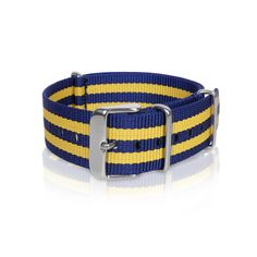 Nato Strap|Blue Yellow Strips ( 20 mm )
