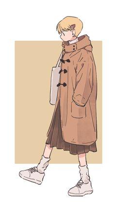LoLi KunG - 【Nightcore】- Taiyou to Himawari Fashion Illustration Sketches, Character Illustration, Art Sketches, Illustration Art, Cute Art Styles, Cartoon Art Styles, Character Drawing, Character Concept, Fashion Design Drawings