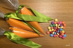 Veľkonočné lentilkové mrkvičky / Easter candy carrots - free tutorial Candied Carrots, Easter Candy, Vegetables, Free, Vegetable Recipes, Veggies