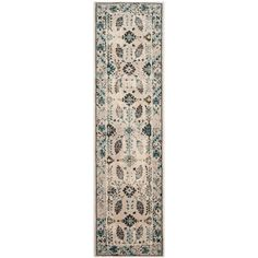 Serenity Cream/Turquoise (Ivory/Turquoise) 2 ft. 3 in. x 8 ft. Runner