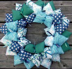 """Anchor in the Sea 16"""" Handmade Beach Wreath"""