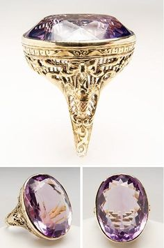 Antique Filigree Amethyst Ring