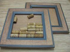 reclaimed cabinet doors turned into DIY cork boards.