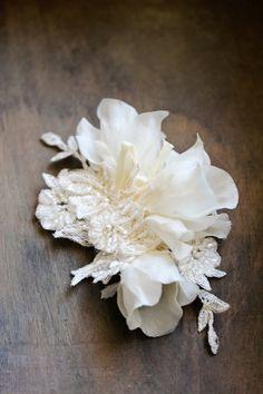 VALENTINA | Bridal floral headpiece | Percy Handmade