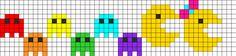 Pacman Perler Bead Pattern | Bead Sprites | Characters Fuse Bead Patterns