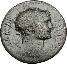 TRAJAN 98AD Thessalonica in Macedonia Authentic Ancient Roman Coin Nike i55583