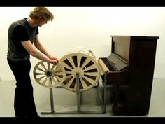 Scale Model of City of Eindhoven, Netherlands Built Around a Cylinder & Used to Played Piano