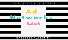 Paid Online Advertising Options.Top 100 advertising Websites for… http://www.ads2020.marketing/2014/03/paid-online-advertising-95-best.html