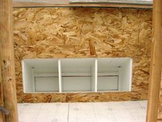 Inner wall to the henhouse provides the finishing touch. Chicken Coop Kit, Chicken Boxes, Chicken Nesting Boxes, Diy Chicken Coop Plans, Chicken Coup, Chicken Coop Designs, Building A Chicken Coop, Chicken Runs, Shade Perennials