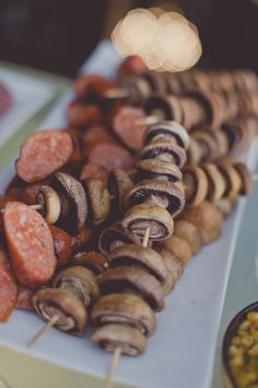 reception wedding food