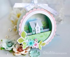 Petite Places: Home & Garden Stamp Set: Papertrey Ink Clear Stamps Dies Paper Ink Kits Ribbon Mason Jar Crafts, How To Make Ornaments, Scrapbook Supplies, Paper Cards, Diy Gifts, Cardmaking, Christmas Crafts, Crafts For Kids, Craft Projects
